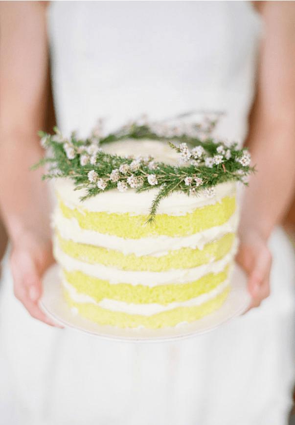 Lemon cream layer cake wedding