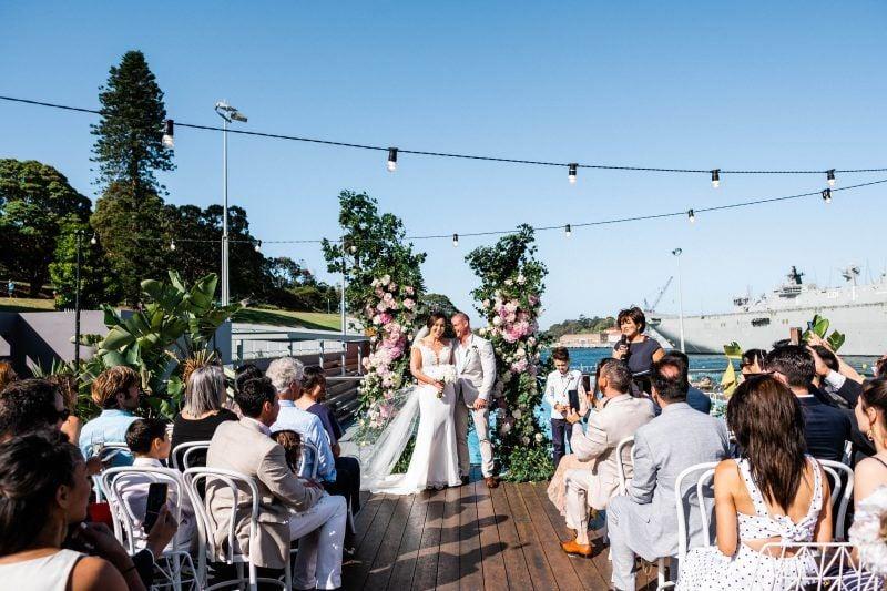 Poolside Andrew Boy Charlton wedding