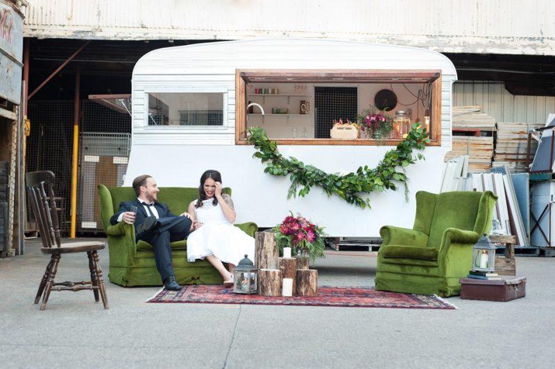 wedding caravan bar