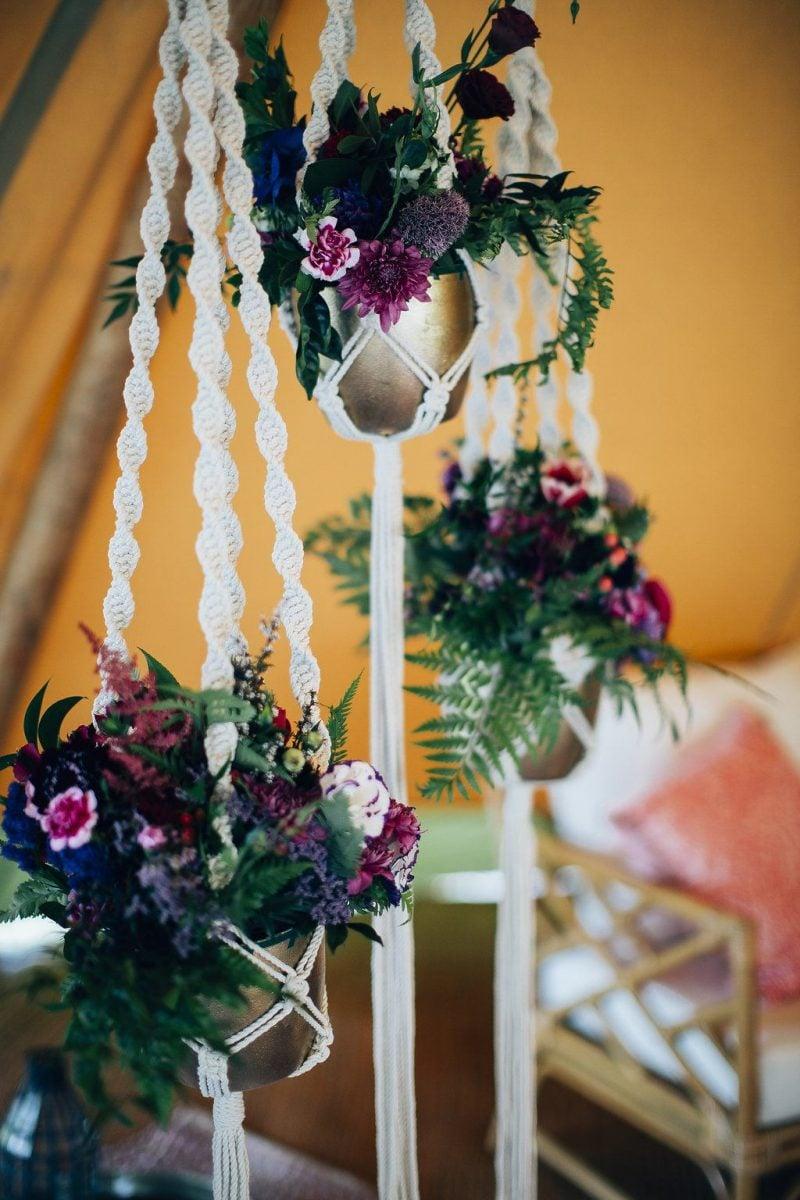 bohemian wedding styling tipi
