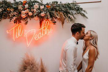 Till Death wedding neon signage