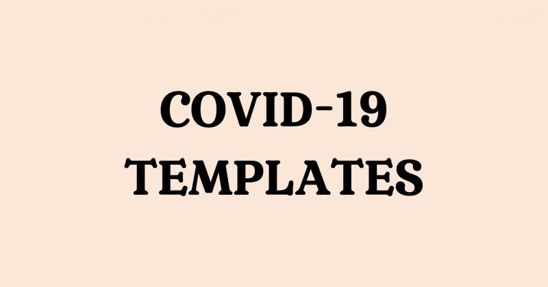 coronavirus wedding postponement template