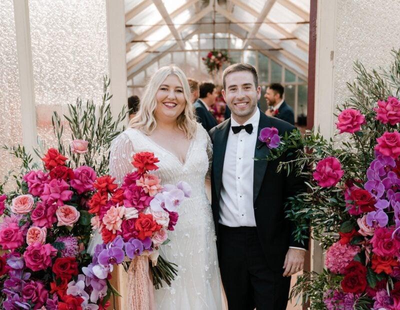 bright floral wedding sydney